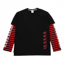 네버에버(NEVEREVER) [네버에버] DANGER LAYERED BOARDER LONG T (Black)