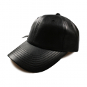 비블랙(BEBLACK) SOLID LEATHER BALLCAP BLACK