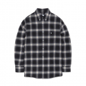 비바스튜디오(VIVASTUDIO) OMBRE CHECK SHIRTS FA [BLACK]