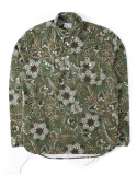 아웃스탠딩(OUTSTANDING) VINTAGE FLOWER PULL OVER SHIRTS [KHAKI]