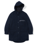 유니폼브릿지(UNIFORM BRIDGE) wool hooded coat d.navy