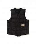 브라운스 비치(BROWNS BEACH) BROWNS BEACH / 724 V NECK DOWNVEST / BLACK