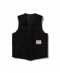 BROWNS BEACH / 724 V NECK DOWNVEST / SOLID BLACK