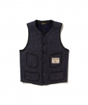 BROWNS BEACH / 524 LOW NECK VEST / NAVY