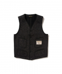 브라운스 비치(BROWNS BEACH) BROWNS BEACH / 724 V NECK VEST / BLACK