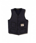BROWNS BEACH / 724 V NECK VEST / NAVY