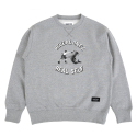 스탠다드커브(STANDARD CURVE) STV. SHARK PUNCH SWEAT SHIRT GRAY