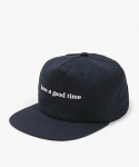 해브 어 굿 타임(HAVE A GOOD TIME) Side Logo Snapback - Navy