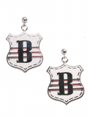 블랭크(BLANK) EMBLEM EARRINGS-WH