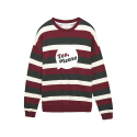 [Tea Please] Stripe Sweatshirts(Wine)