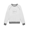 화이트블랭크레이블(WHITE BLANK LABEL) [Tea Please] Piping Raglan Sweatshirts Fleece(White)