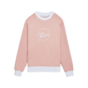 화이트블랭크레이블(WHITE BLANK LABEL) [Tea Please] Piping Raglan Sweatshirts Fleece(Pink)