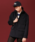 어반디타입(URBANDTYPE) Pocket Half Coat_OL047
