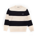 셀렉온(CELECON) [CELECON] WIDE STRIPE WHALE KNIT OFF WHITE