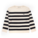 셀렉온(CELECON) [CELECON] STRIPE WHALE KNIT OFF WHITE