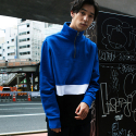 본챔스(BORN CHAMPS) CHAMPS ZIP SWEATSHIR BLUE CEPDMMT03BL