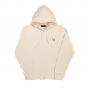 위캔더스(WKNDRS) KISS EMBROIDERY HOODED ZIP JACKET (IVORY)