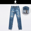 # zipper dark blue denim
