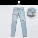 잼블(ZAMBLE) #ZIPPER sky blue denim