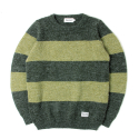 세인트페인(SAINTPAIN) SP NEVERMIND KNIT STRIPE LS-GREEN