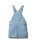 [CAPSULE COLLECTION] MADEME X X-GIRL CANVAS OVERALL DRESS / LIGHT BLUE