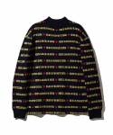 [CAPSULE COLLECTION] MADEME X X-GIRL TURTLE NECK SWEATER / NAVY