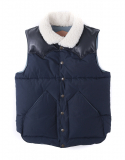 아웃스탠딩() WILD MOUTON DUCK DOWN VEST [NAVY]