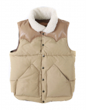 아웃스탠딩() WILD MOUTON DUCK DOWN VEST [BEIGE]