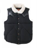 아웃스탠딩() WILD MOUTON DUCK DOWN VEST [BLACK]