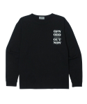 오픈오드(OPN ODD) OUT NOW LONG SLEEVE T (BLK)