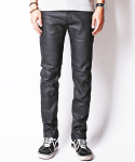 TRENCH COATED BLACK JEANS