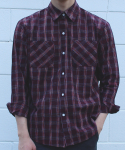 스와인즈() Premium garment check shirts red