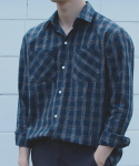 Premium garment check shirts blue