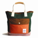 드라이프(DRIFE) TOTE BAG-ORANGE/GREEN