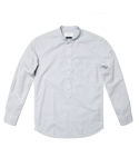 세컨무브(SECONDMOVE) MELANGE OXFORD TUNIC SHIRT_GRAY