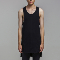 블레디션(BLEDITION) OVERSIZE LAYERED SLEEVELESS BLACK