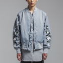 OVERSIZE ROSE MA-1 JACKET GRAY