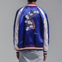 블레디션(BLEDITION) ROSE OF SHARON SOUVENIR JACKET BLUE