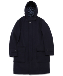라이풀(LIFUL) NAV MELTON HOODED COAT navy
