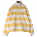 로맨틱크라운() [ROMANTICCROWN]STRIPE TURTLE SWEATSHIRT_MUSTARD
