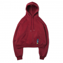 로맨틱크라운(ROMANTIC CROWN) [ROMANTICCROWN]STANDARD DROP SHOULDER WIDE HOODIE_BURGUNDY