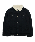 바스틱() Vastic Cotton Sherpa Jacket_Black