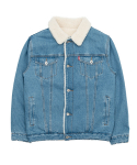 바스틱() Vastic Denim Sherpa Jacket_Blue