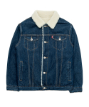 바스틱() Vastic Denim Sherpa Jacket_Indigo