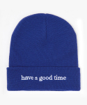 해브 어 굿 타임(HAVE A GOOD TIME) Side Logo Beanie - Blue