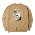 세인트페인(SAINTPAIN) SP ADAMS SOUVENIR CREWNECK LS-BROWN