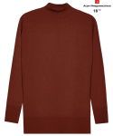 AWESOME STANDARD WOOL HALF TURTLE NECK Wine