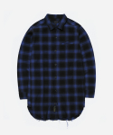 리타(LEATA) Poltergeist Ombre check shirt navy