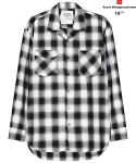 어썸 이미지네이션(AWESOME IMAGINATION) AWESOME TAILORED LOOSE CHECK SHIRTS Black