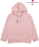 AWESOME COMMEMORATE HOOD SWEAT T-SHIRTS Pink